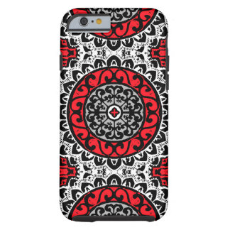 De zuidwestelijke Batik, het Rood, de Zwarte & het Tough iPhone 6 Hoesje