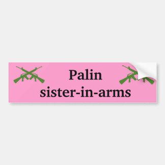 De zuster-in-wapens van Palin bumpersticker