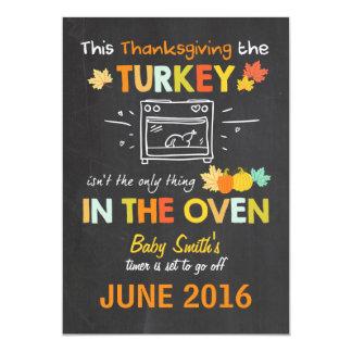 De zwangerschapsaankondiging Turkije van de 12,7x17,8 Uitnodiging Kaart