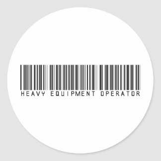 De zware Streepjescode van de Exploitant van het Ronde Sticker
