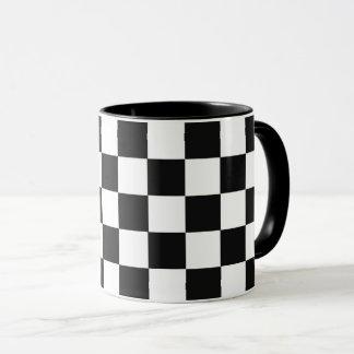 De zwart-wit Vierkanten vatten herhaalbare Mok