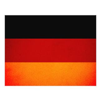 De zwart-wit Vlag van Duitsland Folder Ontwerp