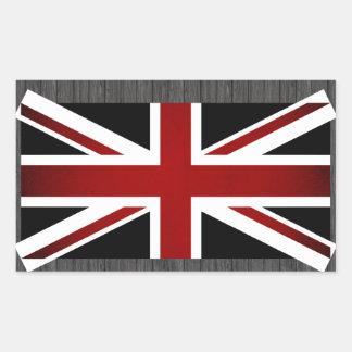 De zwart-wit Vlag van het Verenigd Koninkrijk Rechthoekige Sticker