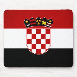 De zwart-wit Vlag van Kroatië Muismatten