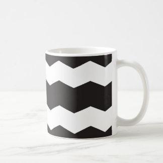 De zwart-witte Achtergrond van het Patroon van de Koffiemok