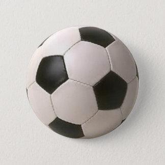 De zwart-witte Bal van het Voetbal Ronde Button 5,7 Cm