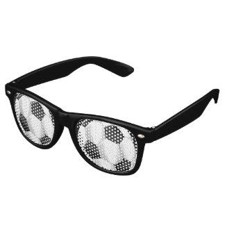 De zwart-witte Ballen van het Voetbal Retro Zonnebril
