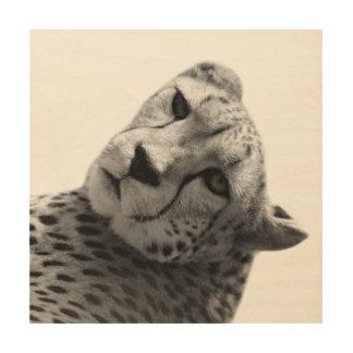 De zwart-witte dierlijke foto van het hout afdruk
