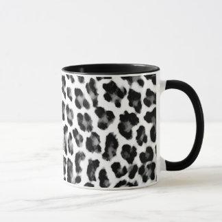 De zwart-witte Druk van de Luipaard Mok