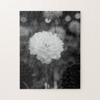 De zwart-witte Foto van de Dahlia Legpuzzel