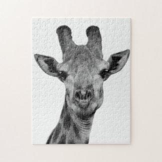 De zwart-witte Foto van de Giraf Puzzel