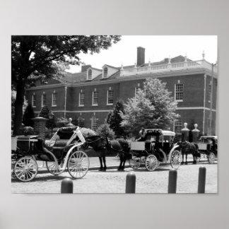 De zwart-witte Foto van het Paard en van het Poster