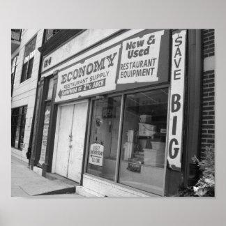 De Zwart-witte Foto van Philadelphia van Poster
