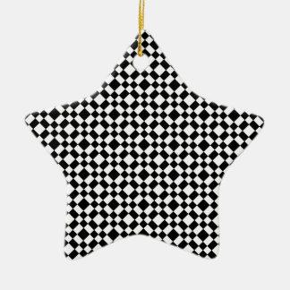 De zwart-witte Geometrische Achtergrond van het Keramisch Ster Ornament