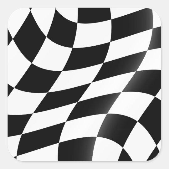 De zwart-witte Geruite Stickers van de Vlag