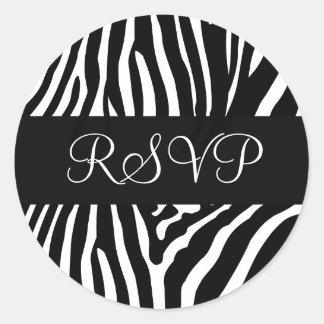 De zwart-witte Gestreepte Verbinding van de Ronde Sticker