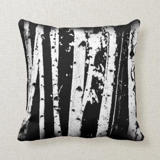 De zwart-witte Grafische Bomen van de Berk van het Sierkussen