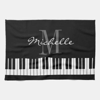 De zwart-witte handdoek van de het monogramkeuken