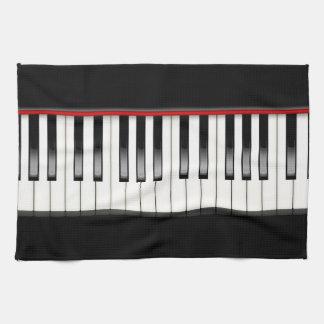 De zwart-witte Handdoek van de Keuken van de Piano
