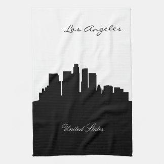 De zwart-witte Horizon van Los Angeles Theedoek