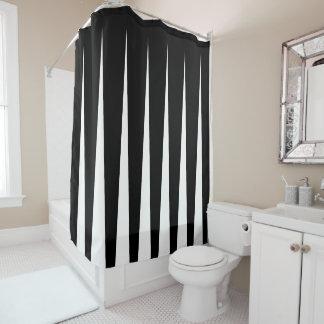De zwart-witte Illusie van de Plooi van Twee Toon Douchegordijn