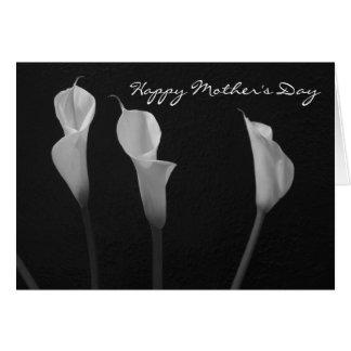 De zwart-witte Kaart van het Moederdag van Bloemen