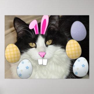 De Zwart-witte Kat van Pasen Poster