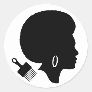 De ZWART-WITTE) Klassieke Ronde Sticker van de