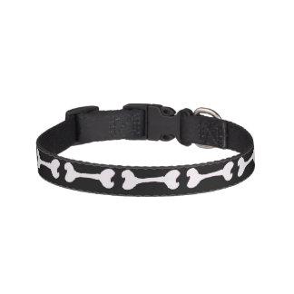 De zwart-witte Kraag van het Been van de Hond Huisdier Halsbandje