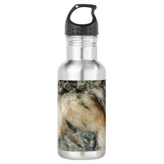 De zwart-witte Minerale Textuur van het Kwarts Waterfles