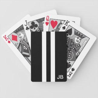 De Zwart-witte Speelkaarten Met monogram van het m Bicycle Speelkaarten