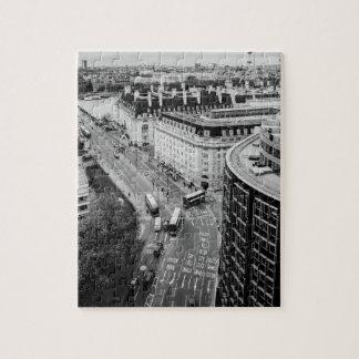 De zwart-witte Stad van Londen Puzzel