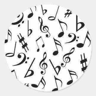 De Zwart-witte Stickers van de Muziek van