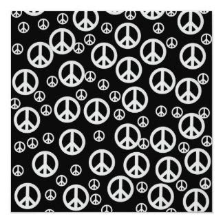 De zwart-witte Tekens van de Vrede Kaart