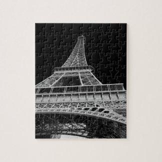 De zwart-witte Toren van Eiffel Puzzel