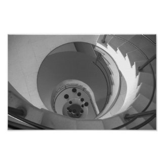 De zwart-witte Wenteltrap van de Foto Poster