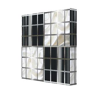 De zwart-witte Zilveren Samenvatting van de Raad Gallerij Wrap Canvas