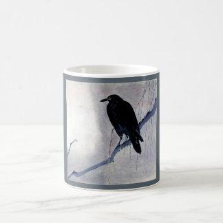 De zwarte Antiquiteit van de Vogel van de Raaf Koffiemok