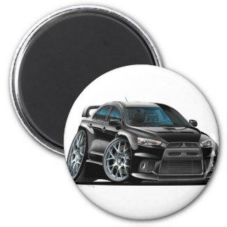 De Zwarte Auto van Mitsubishi Evo Magneet