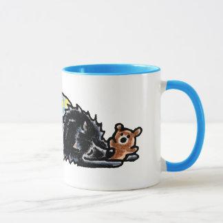 De zwarte Bedtijd Pomeranian draagt Mok