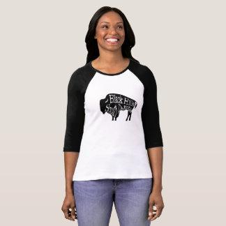 De zwarte Bizon van de van Zuid- heuvels T-shirt