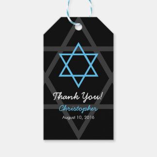 De zwarte Blauwe Bar mitswa dankt u goedkeurt Cadeaulabel