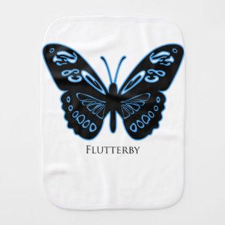 De Zwarte Blauwe Gloed van Flutterby Spuugdoekje