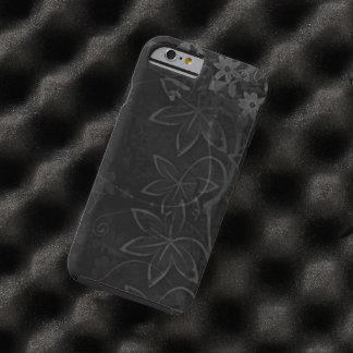de zwarte bloemen wervelen vectorart. tough iPhone 6 case