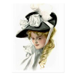 De zwarte Bonnet Briefkaart