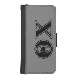 De Zwarte Brieven van de Chi van de theta iPhone 5 Portemonnee Hoesje