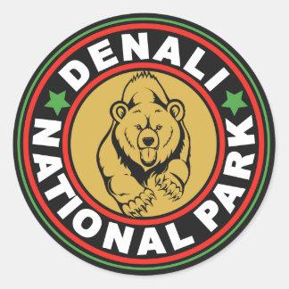 De Zwarte Cirkel van Denali Ronde Sticker