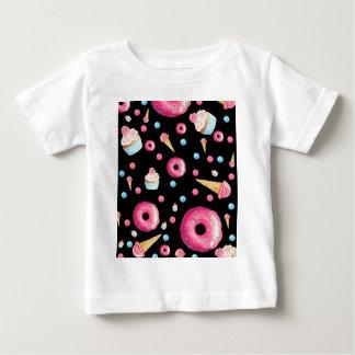 De zwarte Collage van de Doughnut Baby T Shirts
