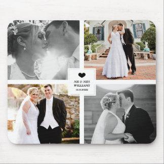 De zwarte Collage van de Foto van het Huwelijk van Muismat