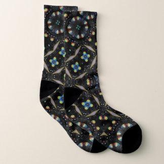 De zwarte Decoratieve Abstracte Sokken van het